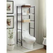 Duplex 60cm x 170cm Over The Toilet Bathroom Shelf-Oil Rubbed Bronze and Chrome