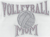 Volleyball Rhinestone, Heat Press, Hot Fix, DIY, applique, rhinestones, crystals, iron on, Volleyball Mom Pink and Grey