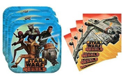 Star Wars Rebels Birthday Party Supplies Set Large Plates & Napkins Tableware Kit for 16 by Designware