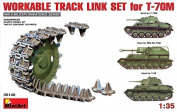 MiniArt Workable Track Link Set for T-70M 1:35 Scale Military Model Kit by MiniArt