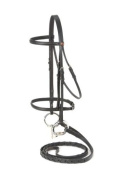 EquiRoyal Raised Draught Horse Snaffle Bridle