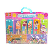 T.S. Shure Fashion-A-Belles Minis Wooden Magnetic Dress-Up Dolls by T.S. Shure
