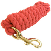 Intrepid International Heavy Duty Cotton 3m Lead Rope with Brass Snap