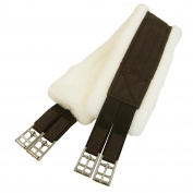 Intrepid International Fleece English Girth with Double Elastic