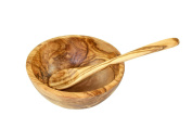 D, O.M. Cereal Bowl made of Olive Wood with Spoon
