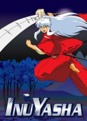 Inuyasha Leaping Fabric Poster by GE Animation