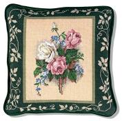 Candamar Designs Victorian Roses Needlepoint Pillow Kit, 36cm x 36cm