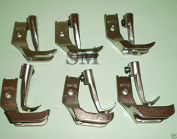 (Ship from USA) CONSEW SEWING MACHINE 206RB 225 226 WELTING PIPING WALKING FOOT SET 6 PAIRS *PLKHG484UY44
