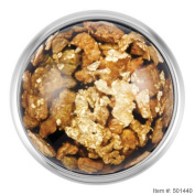 Ginger Snaps FLECKED GOLD / BLACK SN08-87 Interchangeable Jewellery Snap Accessory