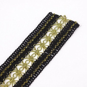 Braided Black Gold Trim Embellishment Lace Fabric Trimming Lace Ribbon Trim Scrapbooking Applique Sewing Supplies 10yards