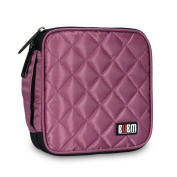 BUBM 32 Capacity CD/DVD Wallet Case Organise your collection for Car, Home, Office and travel - Violet