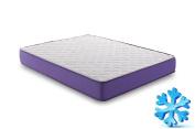 naturalex - Gel-Tech 140 x 190 cm gel-fresh Regulating Memory Foam Mattress + Bed blue-latex
