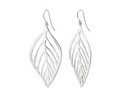 G & H Sterling Silver Drop & Dangle Leaf Earrings