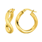 MCS Jewellery 14 Karat Yellow, White OR Rose Gold Hoop Earrings