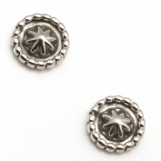 Silver Hogan Button Studs by Lee Shorty