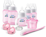 Philips AVENT Anti-Colic Bottle Newborn Starter Set, Pink