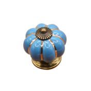 AMA(TM) Home Kitchen Pumpkins Ceramic Handle Door Knobs Cabinet Wardrobe Cupboard Dresser Drawer Pull Handle