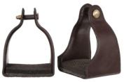 Royal King Leather Covered Padded Endurance Stirrups