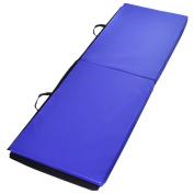 Giantex 2'x 6'x 1.13cm Gymnastics Mat Thick Two Folding Panel Gym Fitness Exercise