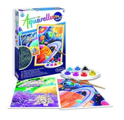 SentoSphere Aquarellum - Planets Glow in the Dark - Arts and Crafts Watercolour Paint Set by SentoSphere