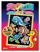 Sequin Art Red, Sealife Scene, Sparkling Arts and Crafts Picture Kit, Creative Crafts by Sequin Art