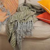 Grass Knitted Design Decorative Throw Blanket, 130cm X 150cm