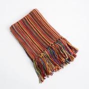 Clay Woven Design Decorative Throw Blanket, 130cm X 150cm