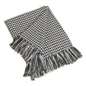 Black Houndstooth Decorative Throw Blanket, 130cm X 150cm
