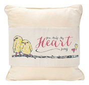 "Jozie B 508260cm You Make My Heart Sing"" Cotton Canvas Reversible Pillow Jacket"