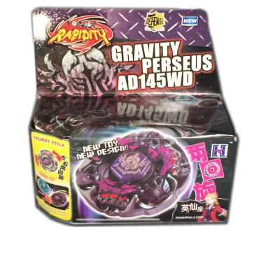 Beyblade Gravity Destroyer Perseus Metal Masters 4D BB80 Starter Retailer Set Includes LL2 Launcher and Rip Cord