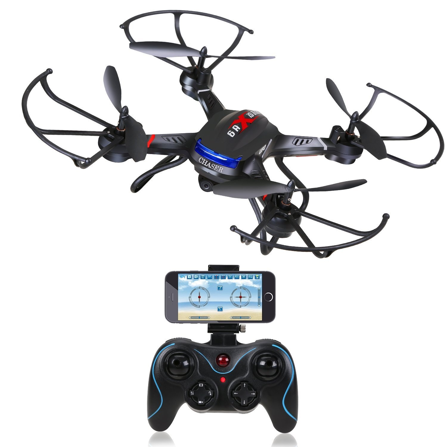 Holy Stone F181W Wifi FPV Drone with 720P Wide-Angle HD Camera Live Video  RC Quadcopter with Altitude Hold, Gravity Sensor Function, RTF and Easy to