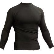 MMA Rash Guard - Long Sleeve, Black - Plain from Piranha Gear