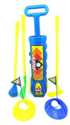 Toy Golf Set For Children Mini Golf Toy Set For Ages 3+ Golf Play Set With 3 Golf Clubs 4 Golf Balls 2 Practise Holes 2 Tees And 2 Flags Golfing Set Colour Blue by Env Toys