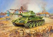 Zvezda 1/100 Soviet Medium Tank T-34/85 # 6160 by Zvezda