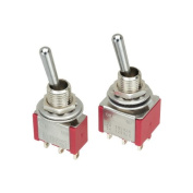 8 pcs (4 each) Mini Toggle Switch SPDT & DPDT On-Off-On