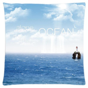 Alone On The Ocean Customised Zipper Standard Size Pillowcase Cushion Cover 46cm x 46cm