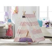 TurtlePlay Kid's Pink Stripe Indoor Teepee Play Tent