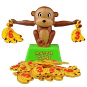VKOPA Monkey Match Math Balancing Scale Number Balance Game Children Educational Toy to Learn add and subtract