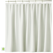 Mildew Resistant Fabric Shower Curtain - 72x72 White polyester Curtain for Bathroom - Waterproof Odourless Eco Friendly Anti Bacterial - Heavy Duty Metal Grommets - Creatov Design