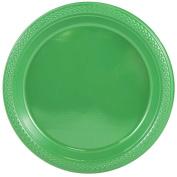JAM Paper Round Plastic Party Plates - Medium - 23cm - Green - 20/pack