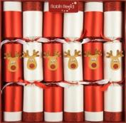 15cm X 33cm Traditional English Christmas Crackers - Racing Reindeers