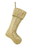 Valery Madelyn 50cm Luxury Collection Sequins Christmas Stocking with Ruffled Cuff Design