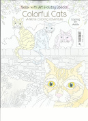 RELAX WITH ART HOLIDAY SPECIAL colourful CATS, 2016 colouring FOR ADULTS