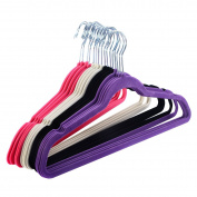 Tangkula 60PCS Non Slip Velvet Clothes Suit/Shirt/Pants Hangers White, Black, Purple,Red