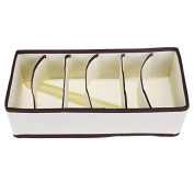 ONEVER Foldable Closet Storage Clothes Drawer Organisers Beige,6 Cell