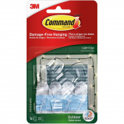 17017CLR-AW Command Outdoor Light Clips with Foam Strips