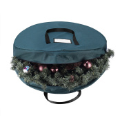 Elf Stor Green Canvas Holiday Christmas Wreath Storage Bag For 80cm Wreaths