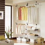 Double 2 Tier Hanger & Shelves | Clothing Rack | Closet Organiser