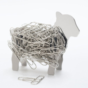 Lamb Sheep Design Stainless Steel Metal Magnetic DIY Binder Paper Clip Holder