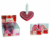 Number 1 Selling Romantic Nights In - Wooden Heart and Love Shaped Candle Holder & Candle - Women Woman Ladies Lady Her - Great Gift Present Idea for Birthdays Christmas Xmas Stocking fillers Secret Santa Anniversary Valentines Easter - One Supplied